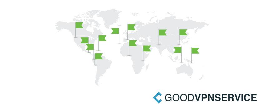 IPVanish VPN server locations