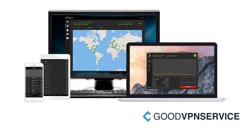 IPVanish VPN software displays