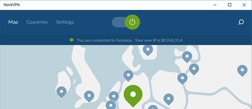 Nord VPN windows screenshot