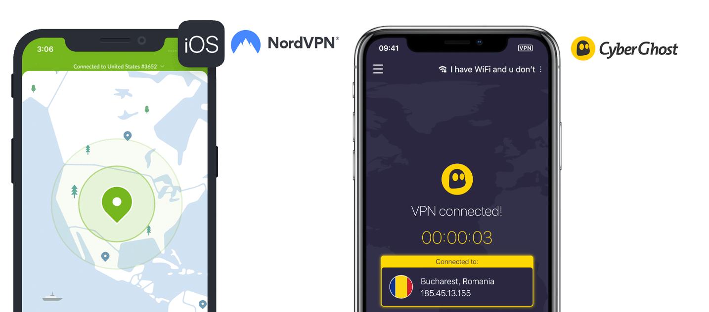 NordVPN iOS app en Cyberghost VPN iOS