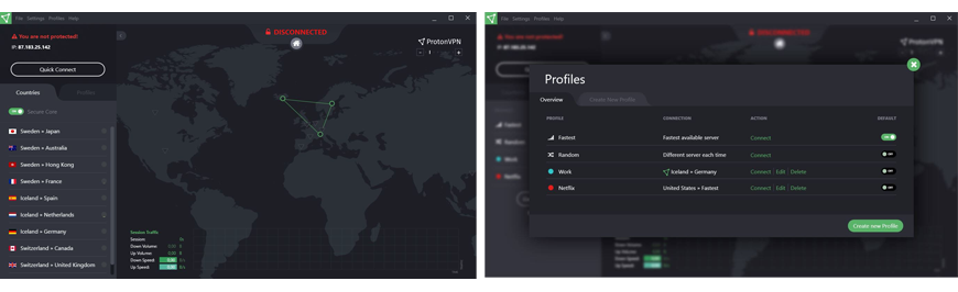 ProtonVPN review app screenshots