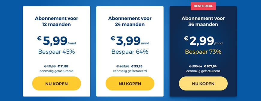 HideMyAss prijzen pakketten
