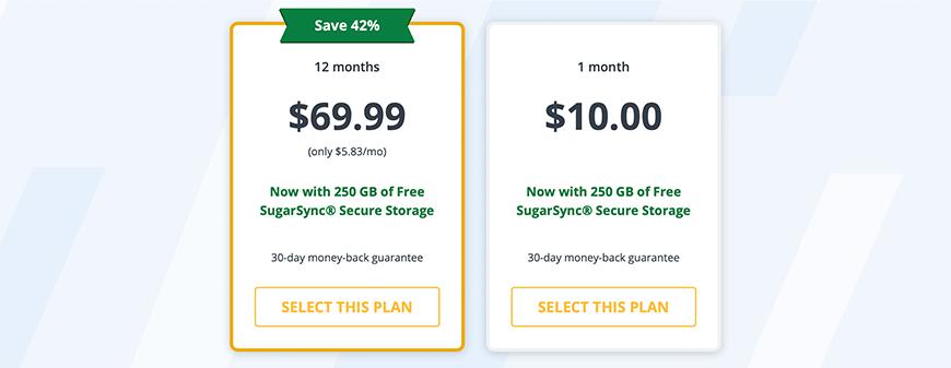 Strong VPN prijzen pakketten