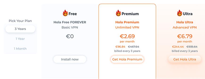 HolaVPN review prijzen en pakketten